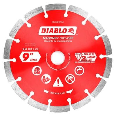 9 in. Diamond Segmented Cut-Off Discs for Masonry
