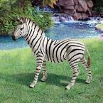 21 in. H Zora the Zebra Statue