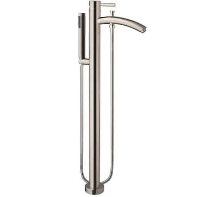 Taron Single-Handle Freestanding Tub Faucet in Brushed Nickel