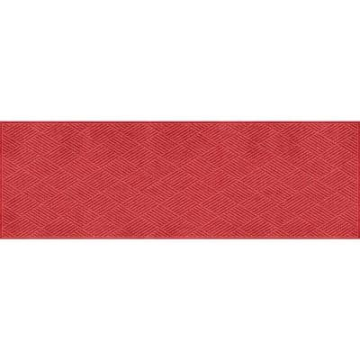 Aqua Shield Diamonds 3 ft. x 8 ft. PET Polyester Runner Solid Red