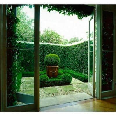 Gorgeous Home Artificial Boxwood Hedge Greenery Panels Dark Green 20 in. x 20 in. / Piece (Set of 24-Piece)