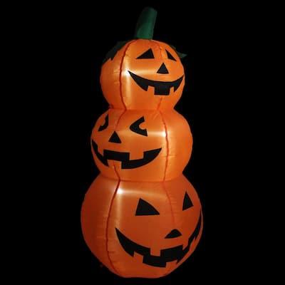 3.5 ft. Inflatable Lighted Pumpkin Trio Halloween Outdoor Decoration