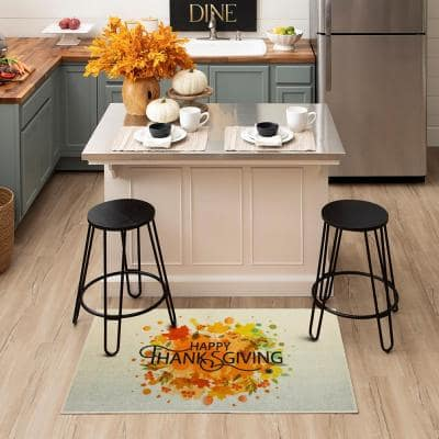 THANKSGIVING LEAVES SPICE 2 ft. 6 in. x 4 ft. 2 in. Scatter Area Rug