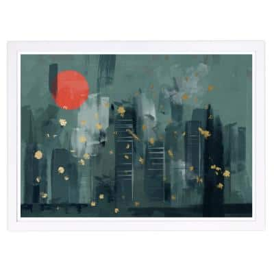 Cityscape' Framed Architecture Art Print 13 in. x 19 in.