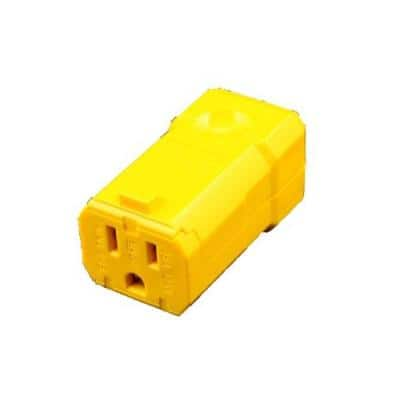 15 Amp Python Straight Blade Connector, Yellow