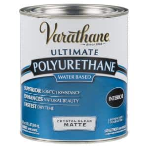 1 qt. Clear Matte Water-Based Interior Polyurethane (2-Pack)
