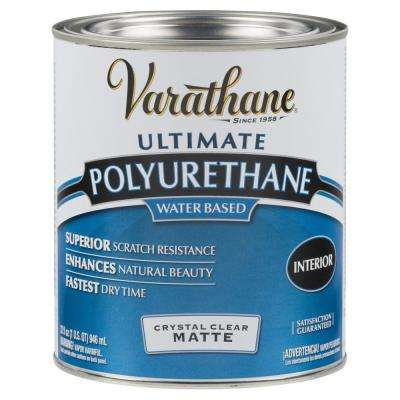 1 qt. Clear Matte Water-Based Interior Polyurethane