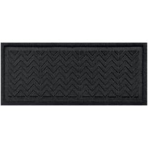 Chevron 15 in. x 36 in. Boot Tray Charcoal