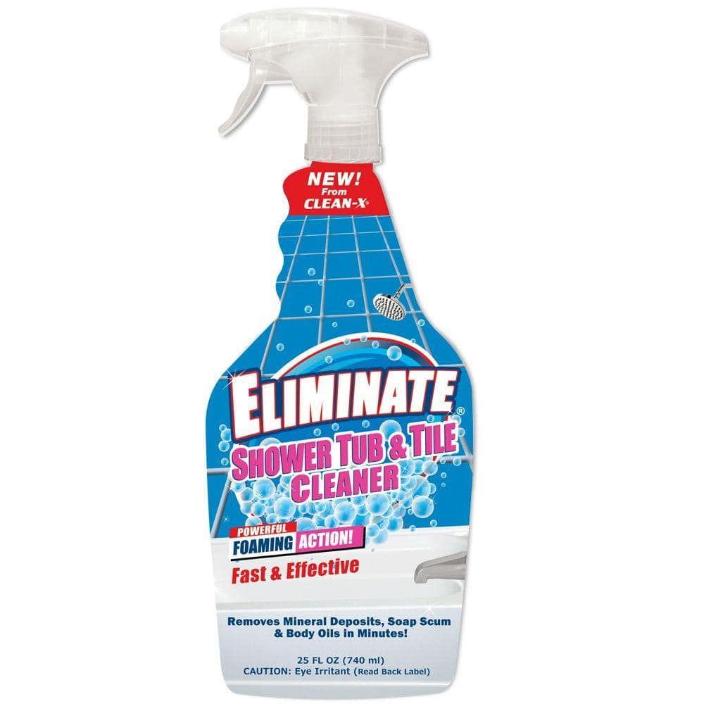 Clean X 25 Oz Eliminate Shower Tub And Tile Cleaner 7999 7 The Home Depot