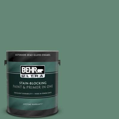 1 gal. #PPF-35 Green Adirondack Semi-Gloss Enamel Exterior Paint and Primer in One