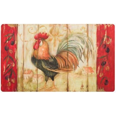 Rustic Rooster 18 in. x 30 in. Comfort Mat