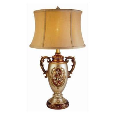 28 in. Antique Brass Rosie Table Lamp