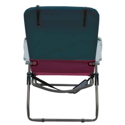 Steel 4-Position Suspension Folding Lawn Chair with Bottle Opener, Cell Phone Holder and Storage Pouch
