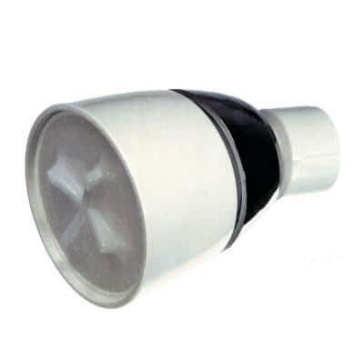 1-Spray 2 in. Single Ceiling Mount Fixed Shower Head in White