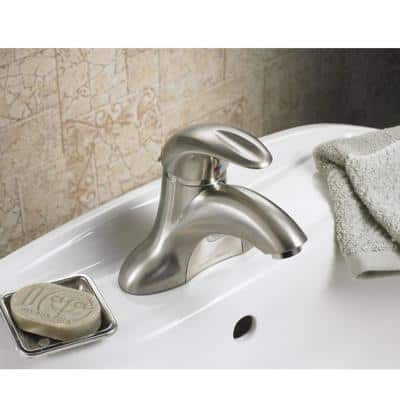 Reliant Single Hole Single-Handle Bathroom Faucet with Speed Connect Drain in Brushed Nickel
