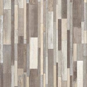 Rustic Wood Fog 6 in. x 36 in. Luxury Vinyl Plank Peel And Stick Wall (18 sq. ft. / Case)
