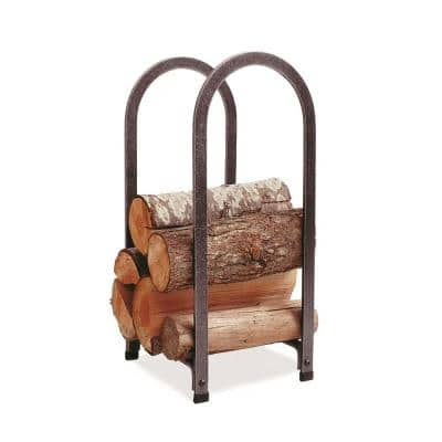 Handcrafted Vertical Arch Firewood Rack Hammered Steel