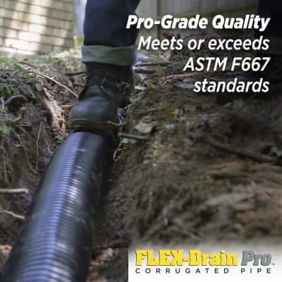 Pro 4 in. x 10 ft. HDPE Solid Drain Pipe