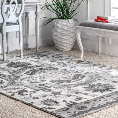 Nuloom Gray Distressed Area Rugs Rugs The Home Depot