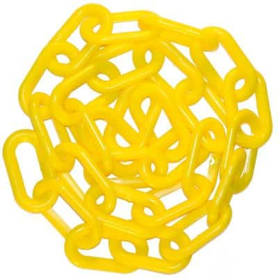 2 in. x 100 ft. Yellow Plastic Chain
