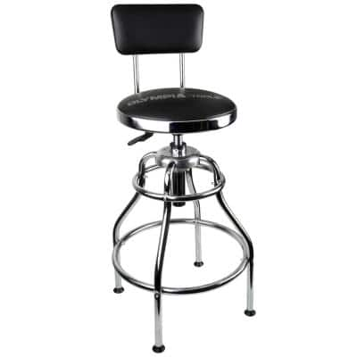 300 lb. Capacity 39 in. Adjustable Height Hydraulic Garage/Shop Stool with 360-Degree Swivel