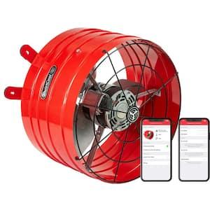 2860 CFM Smart App Controlled 2-Speed Gable Mount Attic Fan