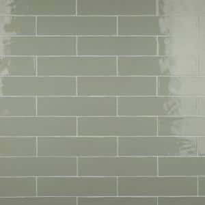Chester Sage 3 in. x 12 in. Ceramic Wall Subway Tile (5.93 sq. ft. / Case)