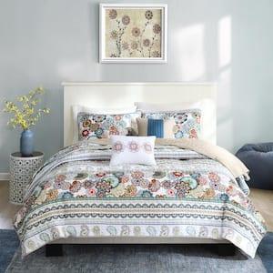 Lacie 5-Piece Multicolored Full/Queen Coverlet Set