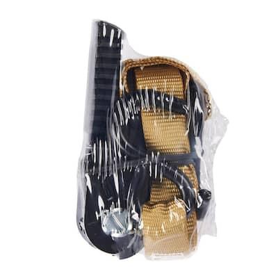1 in. x 12 ft. Pistol Grip Khaki Webbing Ratchet Tie Down