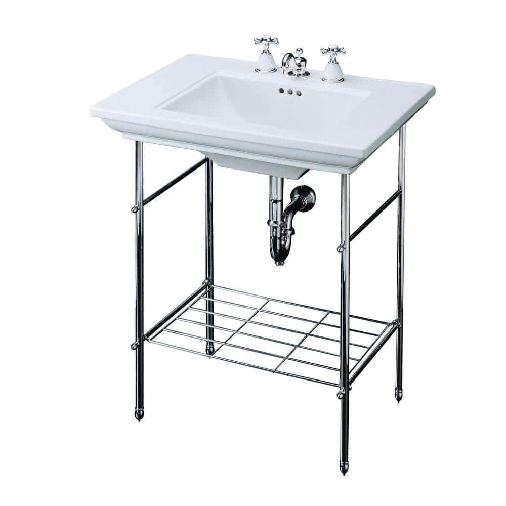 Kohler Memoirs Table Legs Only In Polished Chrome K 6880 Cp The Home Depot