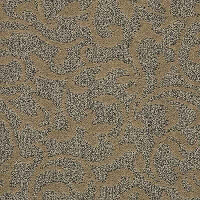 Swirling Vines - Color Desert Sand Pattern Brown Carpet