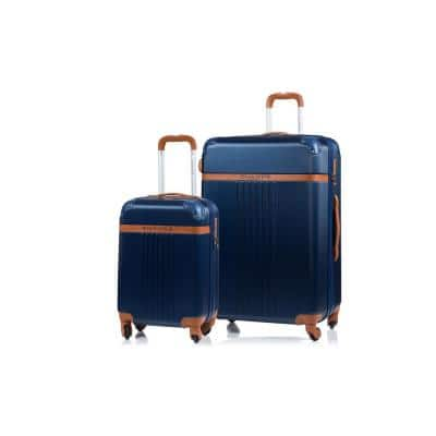 CHAMPS Vintage 29 in., 20 in. Navy Hardside Luggage Set with Spinner Wheels (2-Piece)