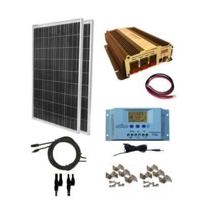 200-Watt Off-Grid Polycrystalline Solar Panel Kit with 1500-Watt VertaMax Power Inverter