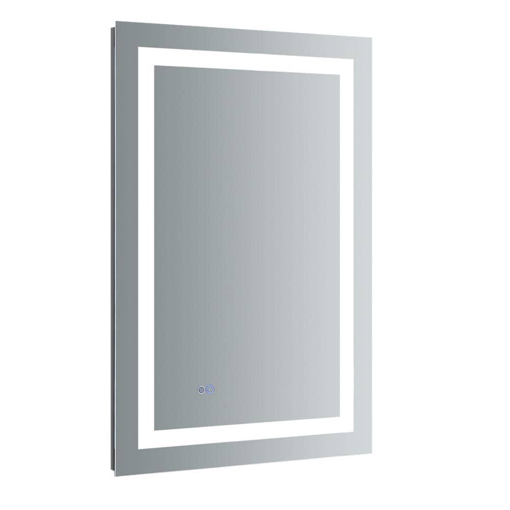 Fresca Santo 24 In W X 36 In H Frameless Rectangular Led Light Bathroom Vanity Mirror Fmr022436 The Home Depot