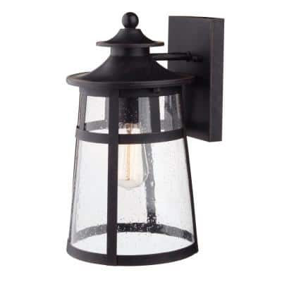 Ezekiel 1-Light Bronze Outdoor Wall Lantern Sconce