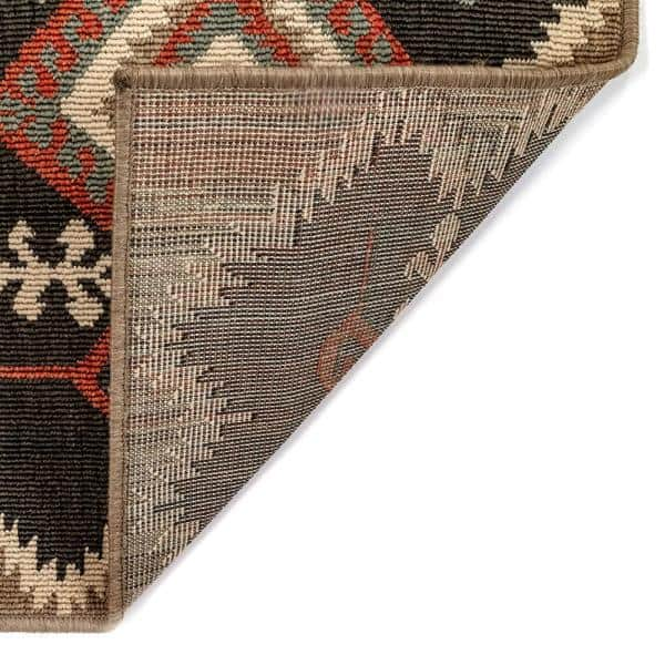 Liora Manne Riviera Kilim Black 6 Ft 6 In X 9 Ft 3 In Indoor Outdoor Area Rug Rvi69764548 The Home Depot