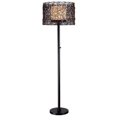 Tanglewood 58 in. Bronze Outdoor Floor Lamp