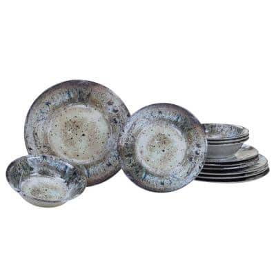 Radiance 12-Piece Casual Cream Melamine Outdoor Dinnerware Set (Service for 4)