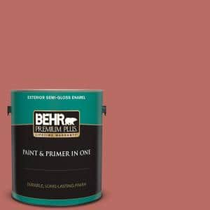 Behr Premium Plus 1 Gal Mq4 34 Hacienda Tile Semi Gloss Enamel Exterior Paint And Primer In One 534001 The Home Depot