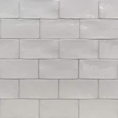 Catalina Gris 3 in. x 6 in. Polished Ceramic Subway Wall Tile (5.38 sq.ft./case)