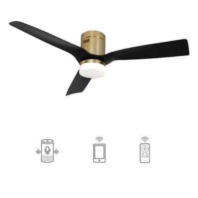 Striver 52 in. Indoor/Outdoor Gold Smart Ceiling Fan, Dimmable LED Light and Remote, Works with Alexa/Google Home/Siri