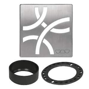 Kerdi-Drain 4 in. Brushed Stainless Steel Curve Drain Grate