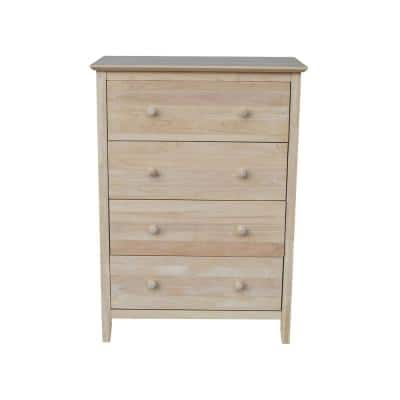 Brooklyn 4-Drawer Unfinished Wood Chest of Drawers