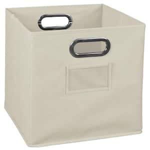 Whitmor 13 In D X 5 In H X 15 In W Brown Plastic Cube Storage Bin 6581 2711 Espr The Home Depot
