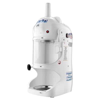 Polar Pal 128 oz. White Ice Block Shaver and Snow Cone Machine