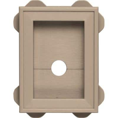 5.5 in. x 8.625 in. #023 Wicker Wrap Around Mounting Block
