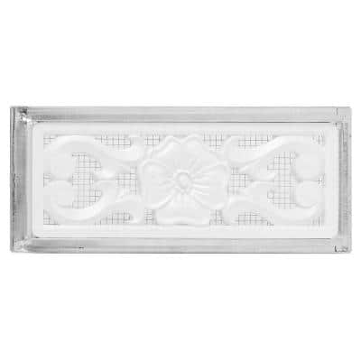 14 in. x 6 in. Galvanized Steel 2-Way Reversible Vent with Decorative Plastic Floral Insert
