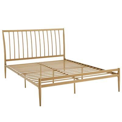 Gold Queen Metal Platform Bed