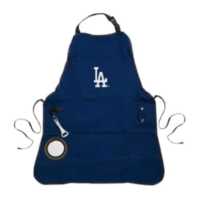Los Angeles Dodgers MLB 24 in. x 31 in. Cotton Canvas 5-Pocket Grilling Apron with Bottle Holder