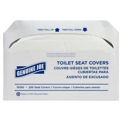 Toilet Seat Covers (250-Sheets per Pack, 10-Packs per Case)